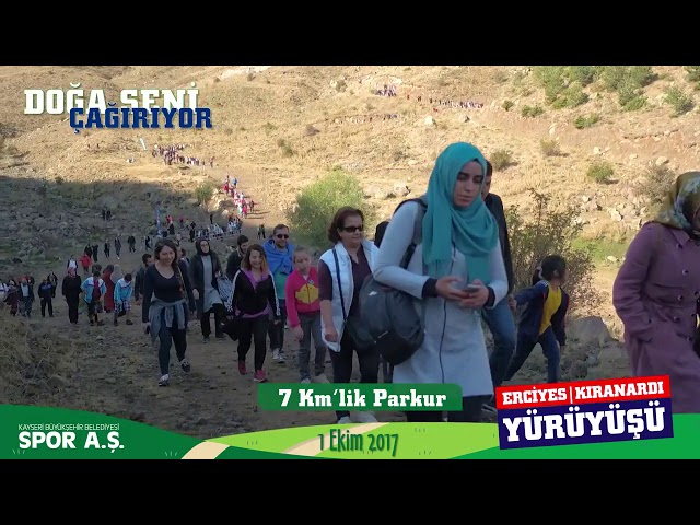 1 Ekim Erciyes   Kıranardı Yürüyüşü