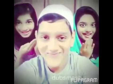 Assalamualaikum Walaikumassalam Very nice dubmash by Arabic girls