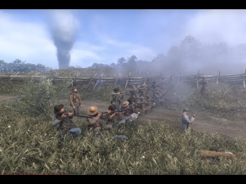 War of Rights - Confederate States - Skirmish - Double Lines, Volley Fire, and Brutal Melee Clashes