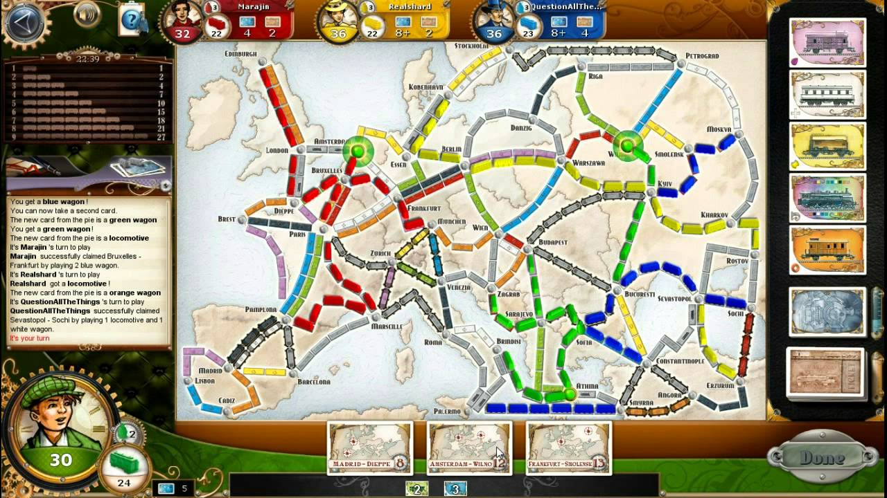 03 Let S Play Ticket To Ride Europe Map Youtube