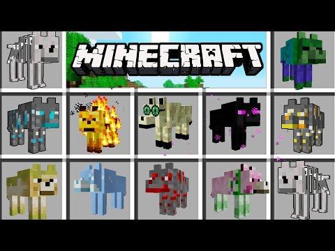 Minecraft - Lobos de minerales MOD - LOBOS ZOMBIE Y DE FUEGO!!