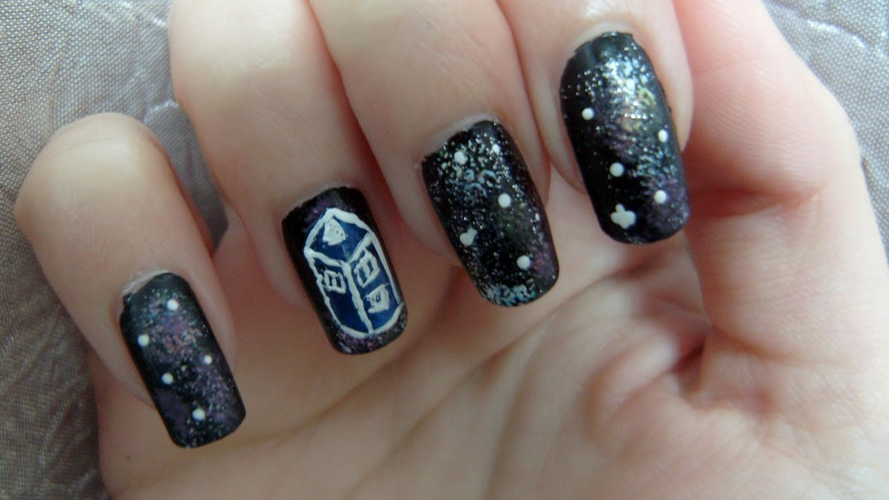 Doctor Who Tardis Nail Art Tutorial Youtube