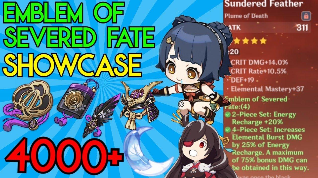 4000 Resin for Emblem of Severed Fate Artifacts   Xiangling & Beidou Showcase   Genshin Impact