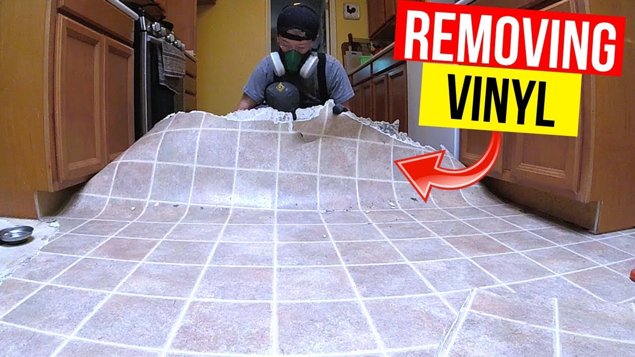 How To Remove Vinyl Or Linoleum Flooring Jonny Diy Youtube