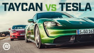Porsche Taycan Turbo S Vs Tesla Model S: Drag Race, Full Review And Vmax | Top G