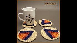 Crochet Tutorial: Geometric Arrow Coasters