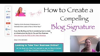 How to Create a Compelling Blog Signature