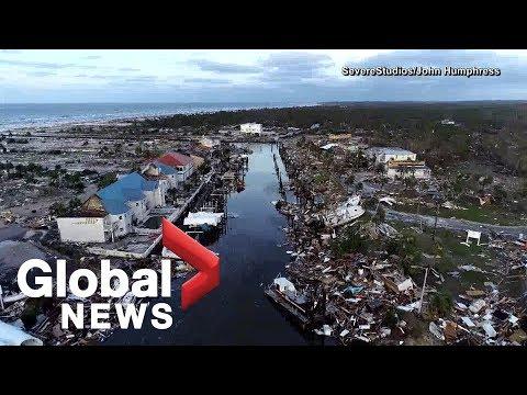 Hurricane Michael: Drone video captures destruction in Floridas Mexico Beach