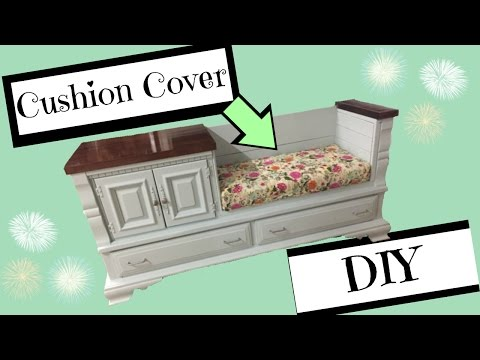 DIY Bench Cushion with Boxed Corners
