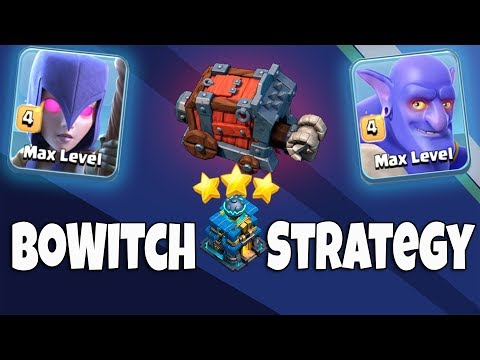 BoWitch Strategy TH12 | Max Bowler Max Witch & Siege Machine Army 3 Star TH12 Attack | Clash Of Clan