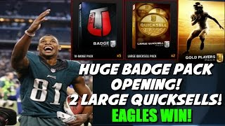 EAGLES BEAT THE REFS AND COWGIRLS! HUGE BADGE PACK OPENING + 2 LARGE QUICKSELLS Madden 16