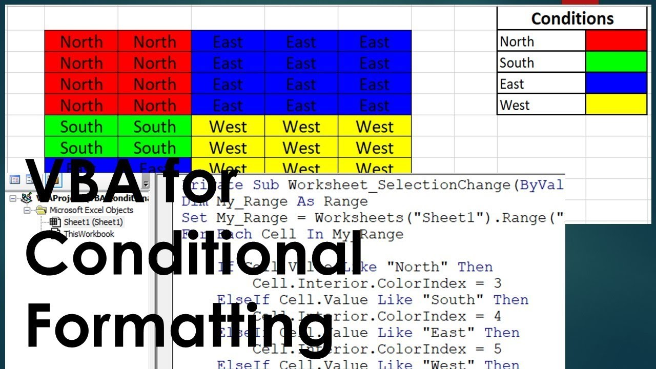 Conditional Formatting using VBA Code - Change Cell Color basis on Condition