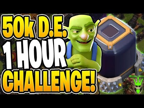 CAN I GET 50,000 DARK ELIXIR IN LESS THAN 1 HOUR? - Let's Play TH9 - Clash Of Clans