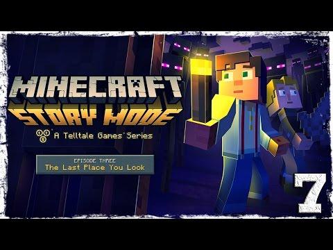 Смотреть прохождение игры Minecraft Story Mode. #7: Портал в Край.