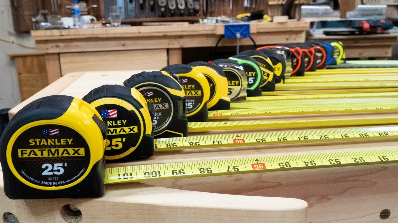 The Ultimate Tape Measure Review // Stanley Lufkin Kobalt Komelon Fatmax