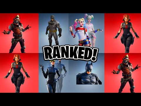 Ranking ALL DC/Marvel Fortnite Skins! (Fortnite Skins Ranked)