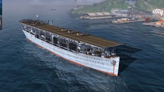World of Warships Blitz AIRCRAFT CARRIER Tutorial & Gameplay IOS iPhone iPad