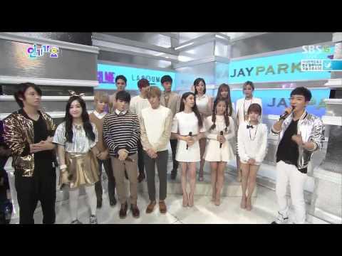 140914 TEEN TOP & T-ARA - Interview @ Inkigayo (Super Junior MC)