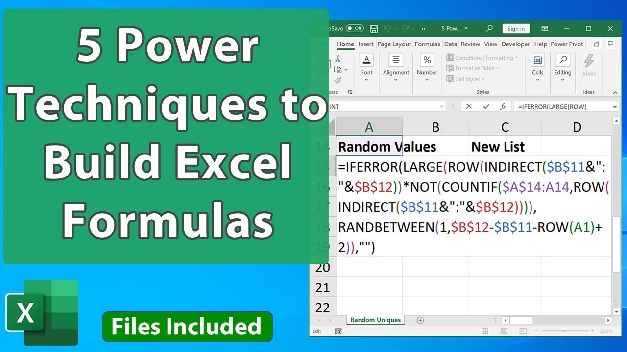 20 Powerful Techniques for Building Advanced Formulas in Excel