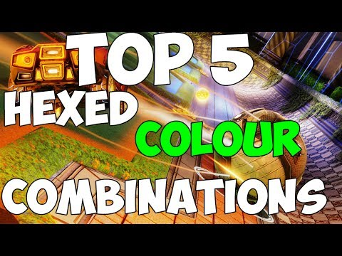TOP 5 HEXED COLOUR COMBINATIONS! | Rocket League Hexed Color Combinations PS4, PC, Xbox One XB1 PS3