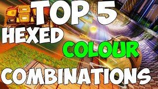 TOP 5 HEXED COLOUR COMBINATIONS! | Rocket League Hexed Color Combinations PS4, PC, Xbox One XB1 PS3
