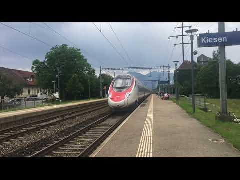 Trains à Kiesen - 27 août 2017 - Transports Publics Suisses