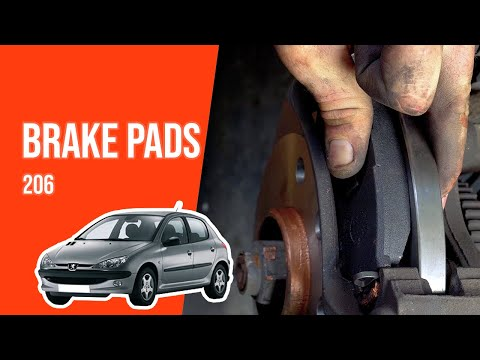 How to replace the front brake pads PEUGEOT 206 🚗