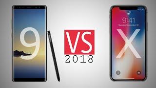 Note 9 Vs iPhone X ( Comparison ) 2018