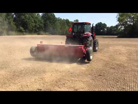 Case Farmall 105c With 10ft Brillion Seeding Barenbrug Alfalfa