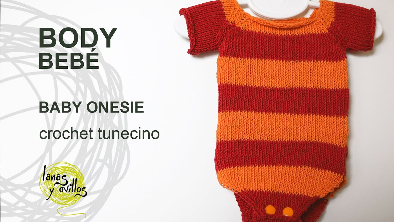 Tutorial Body Bebé Crochet o Ganchillo Tunecino Punto Jersey - YouTube