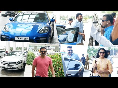 Celebrities With their Super Cars At Amma General Body Meeting 2019   Mammotty, Mohanlal, Asif Ali