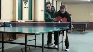 卓球の2on2で友達に1回も打たせないドッキリしたらブチギレた動画