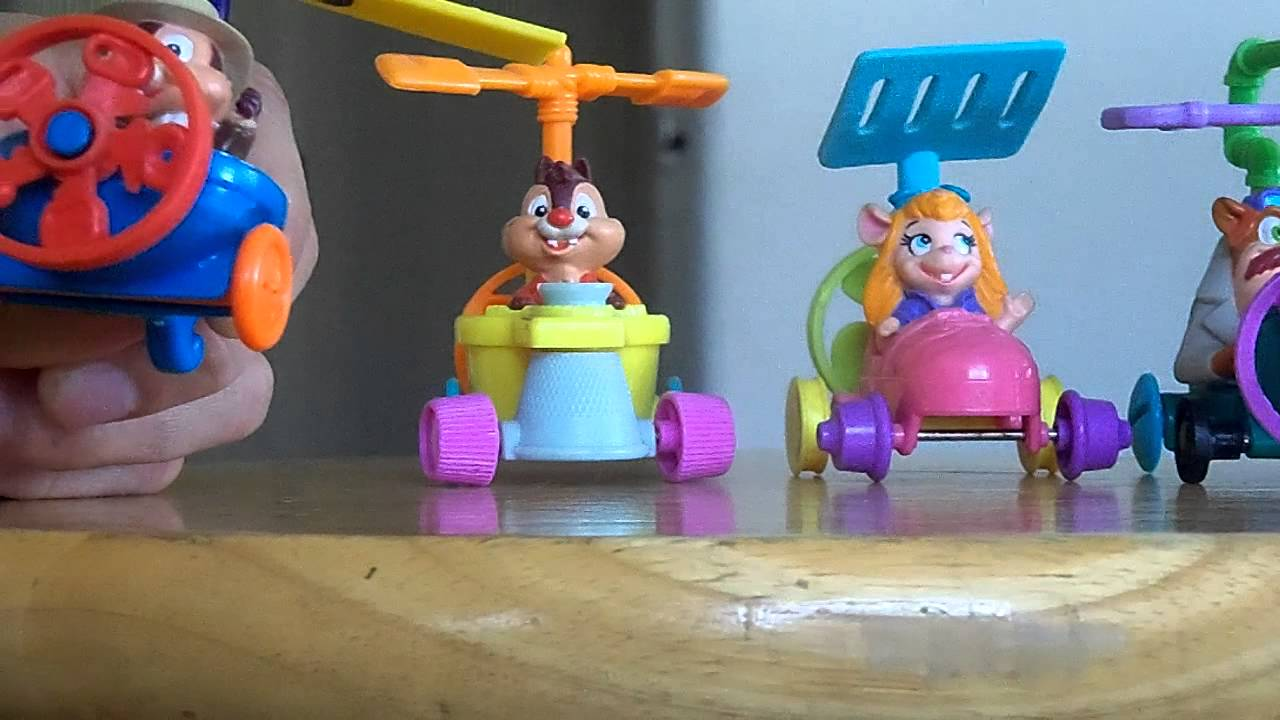hd review of the 1990 mcdonald s rescue rangers toys youtube