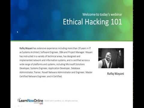 Certified Ethical Hacking 101