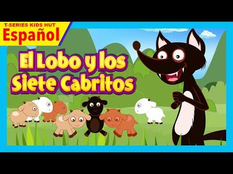 El Lobo y los Siete Cabritos - historias español | El lobo y la historia de siete cabritas completa