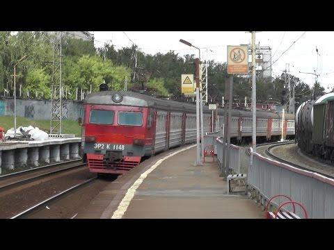 Электропоезд ЭР2К-1148 станция Красный Строитель