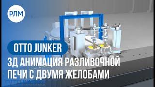 OTTO JUNKER 3Д анимация разливочной печи с двумя желобами