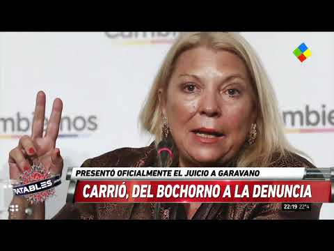 Carrió presentó la denuncia de juicio político contra Garavano