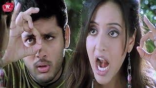 Nithin & Raima Sen Practising Whistle Love Scene | Telugu Movies | Telugu Videos