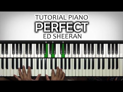 Tutorial Piano mengiringi lagu PERFECT - Ed Sheeran | Belajar Piano Keyboard