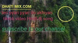 Teri pyari pyari do akhiyan tiktok video Hindi DJ song