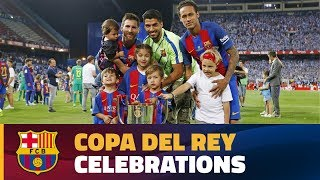 Copa del Rey final celebrations at Vicente Calderón