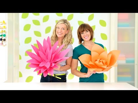 How To Make Giant Paper Flowers