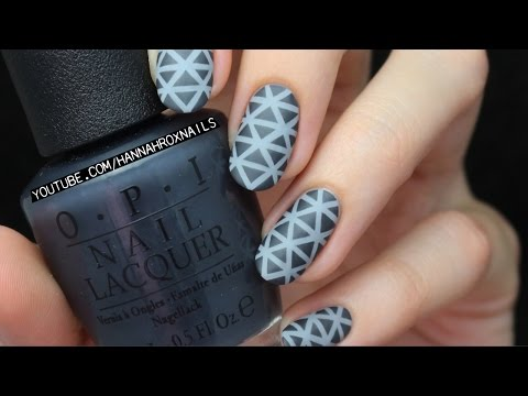 Triangle Print Nails + OPI Fifty Shades of Grey Collection!
