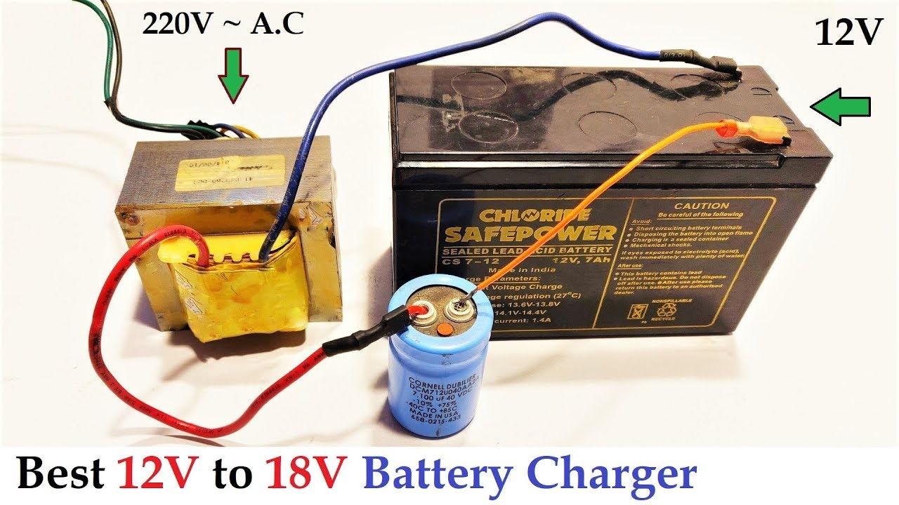 12v To 18v Dc From 220v Ac Converter For Battery Charger Amazing Idea Diy Youtube
