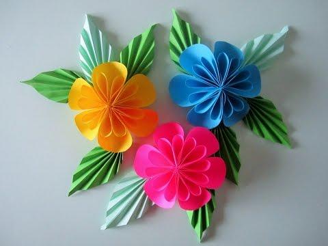 Blumen aus Papier/Notizzettel. DIY