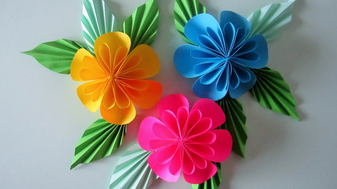 Blumen aus Papier/Notizzettel. DIY - YouTube