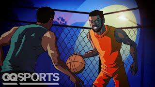 Kevin Durant, der auf Seinem Legendären Spiel in Harlem Rucker Park | GQ Sport