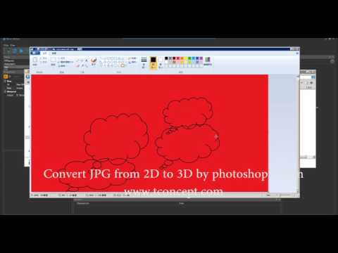 DMS TFlow:Convert JPG from 2D to 3D by Photoshop action