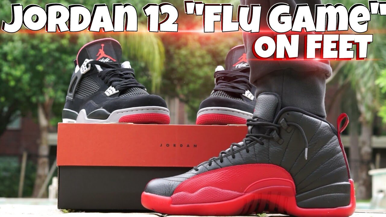 cheap for discount bea33 a7b43 JORDAN 12 FLU GAME (ON FEET VIDEO) - YouTube